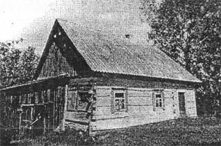 Хата кінця XIX - поч. XX ст. Село Чоповичі Малинського р-ну.