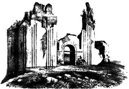 Рис. 121. Церковь Св. Василия в Овруче. Вид с севера до реставрации.
