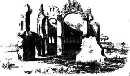 Рис. 122. Вид с запада до реставрации