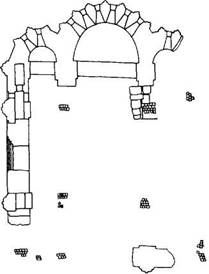 Рис. 124. План (по обмеру А. В. Щусева)