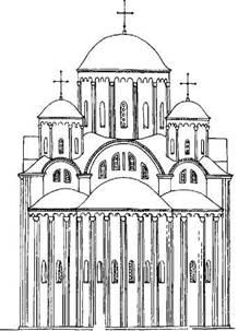 Рис. 127. Восточный фасад церкви Св. Василия по первоначальному проекту