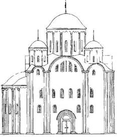 Рис. 128. Северный фасад по первоначальному проекту