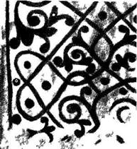 Рис. 129. Древняя фреска на откосе окна (зарисовка А. В. Щусева)