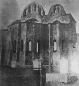 Руїни храму. Овруч 1842 р.