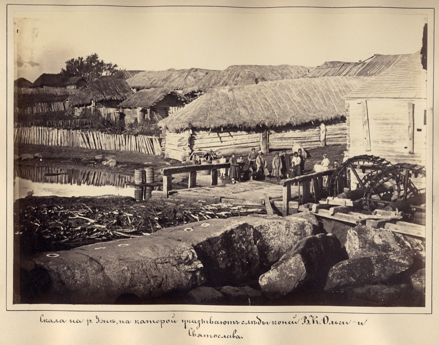 Скеля на р.Уж, на якій вказують сліди коней Великої Княгині Ольги та Святослава