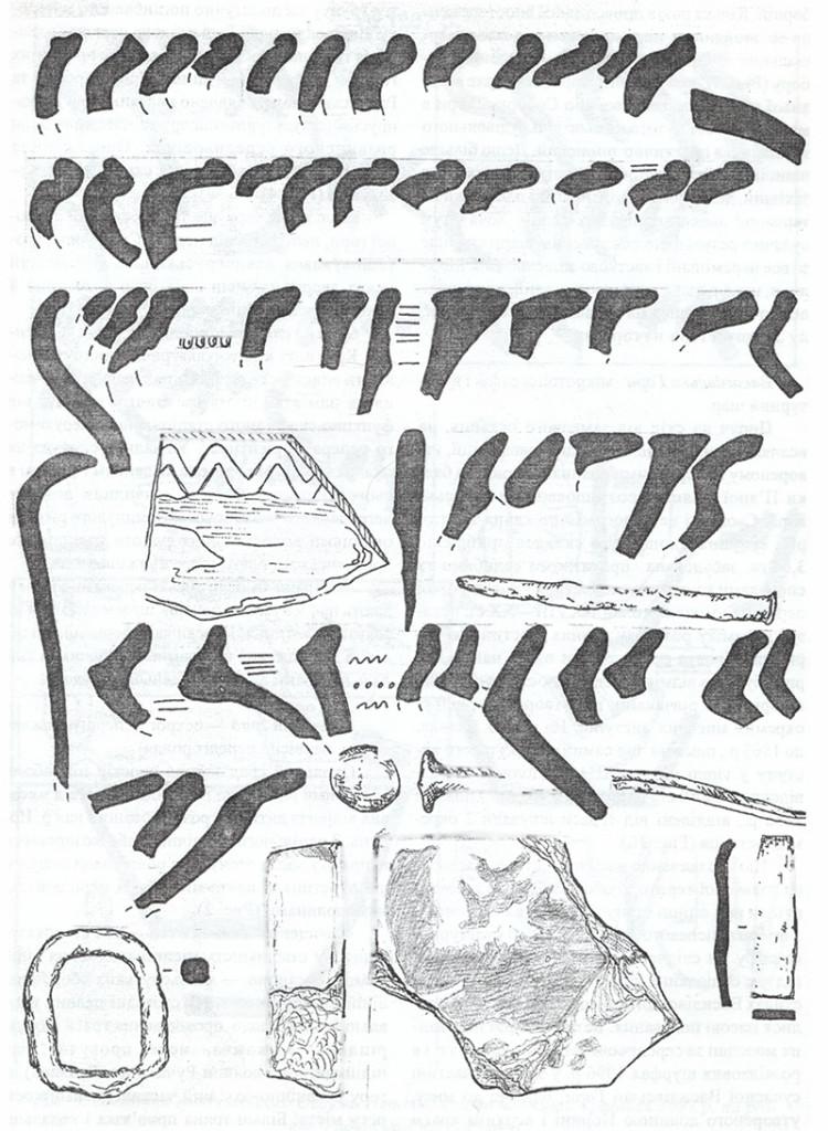 Рис. 4. Василівська Гора давнього Овруча. Знахідки 1996—2002 pp.