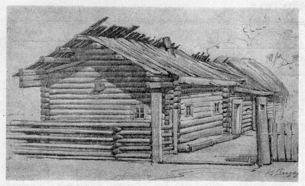 Село Копище. Хата селянки Лозчихи. Зовнішній вигляд.